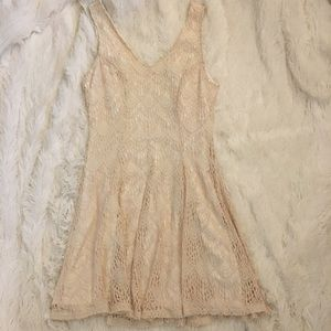 Adorable Cream Crochet Bar III Dress